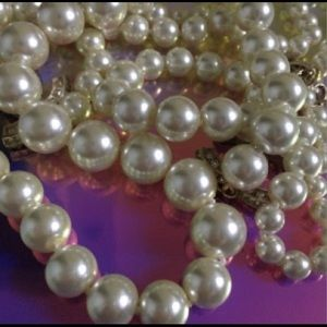 Vintage Long pearl necklace jewelry